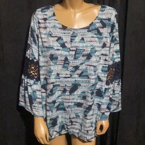 ‼️ New Alfani Beautiful Lace Sleeve Top